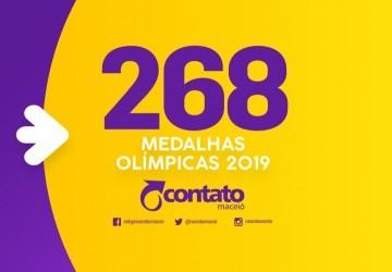 Contato conquista 268 medalhas olímpicas