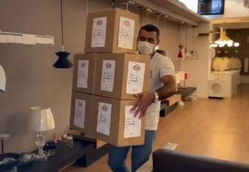 Contato fez parceria com o projeto 3D Saves na produção de máscaras faciais